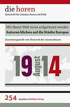 Die Horen: August 1914