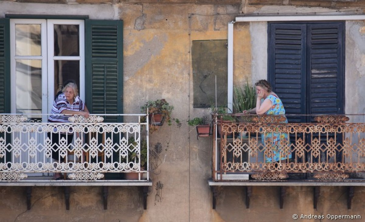 Mit Andreas Oppermann 1860 durch Palermo (2) – Balkone