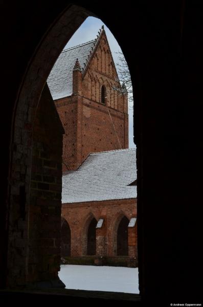 Klosterruine Chorin an einem der seltenen Schneetage im Januar 2012