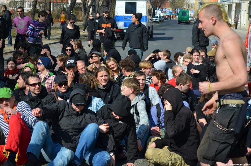 Demo gegen Neonazis in Frankfurt (Oder)