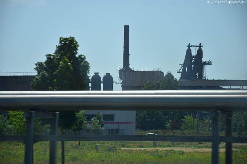 Blicke aus dem Fenster auf der Zugfahrt von Frankfurt (Oder) nach Cottbus.