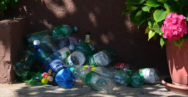 Plastikflaschen in Istrien