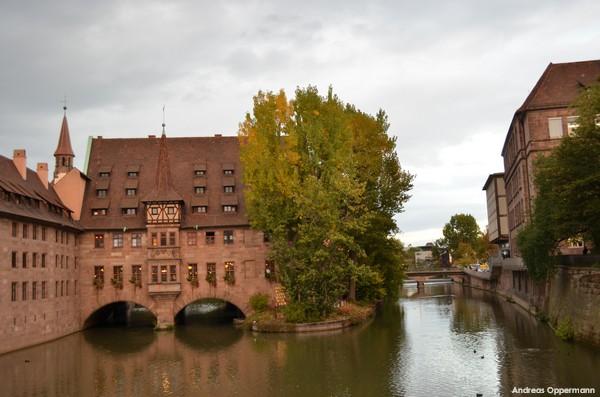Nürnberg in der Dämmerung