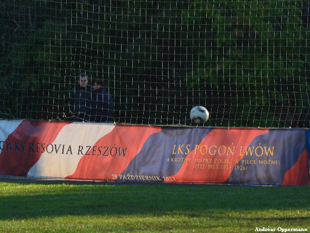 Im Stadion von Pogon Lwow