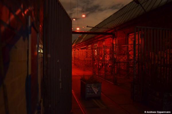 Lichter rund um die Arena in Kreuzberg