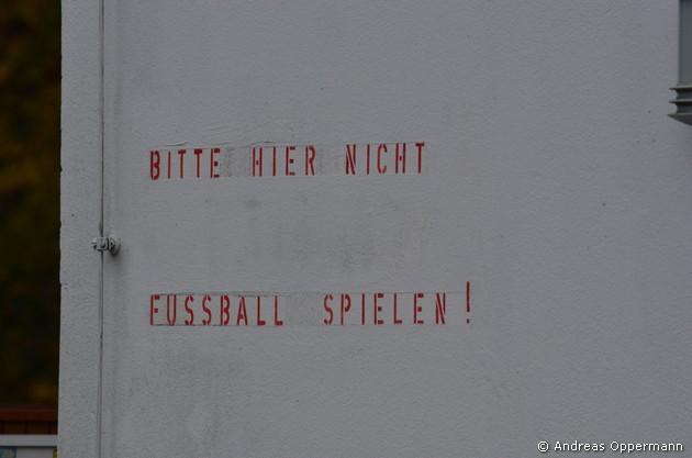 Auf dem Gelände des VfB Hermsdorf