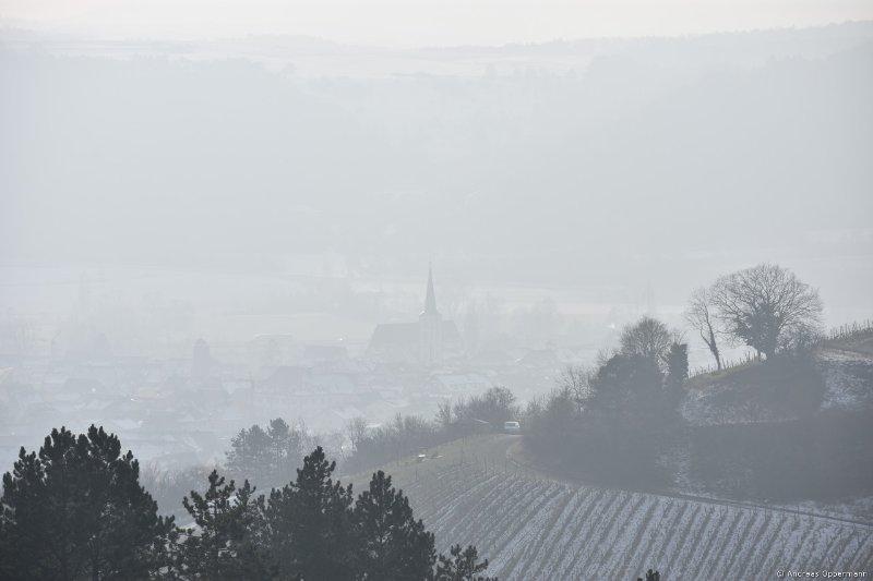 Auf dem Heroldsberg in Hammelburg im Winter