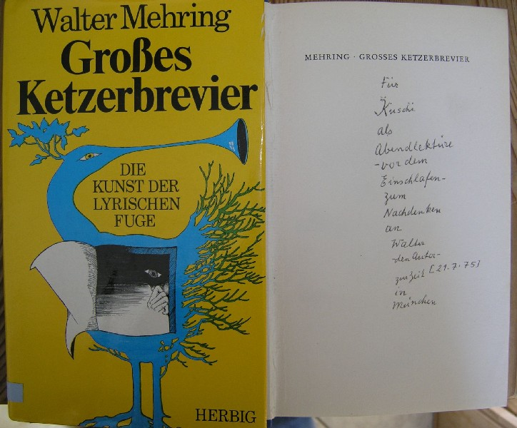 Walter Mehrings Autograph