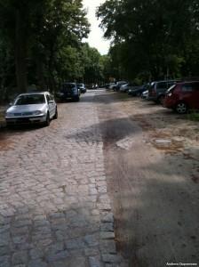 Die Grenze zwischen Berlin und Eichwalde