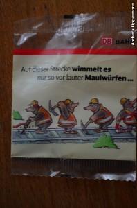 Maulwurf-Gummibären von der Bahn