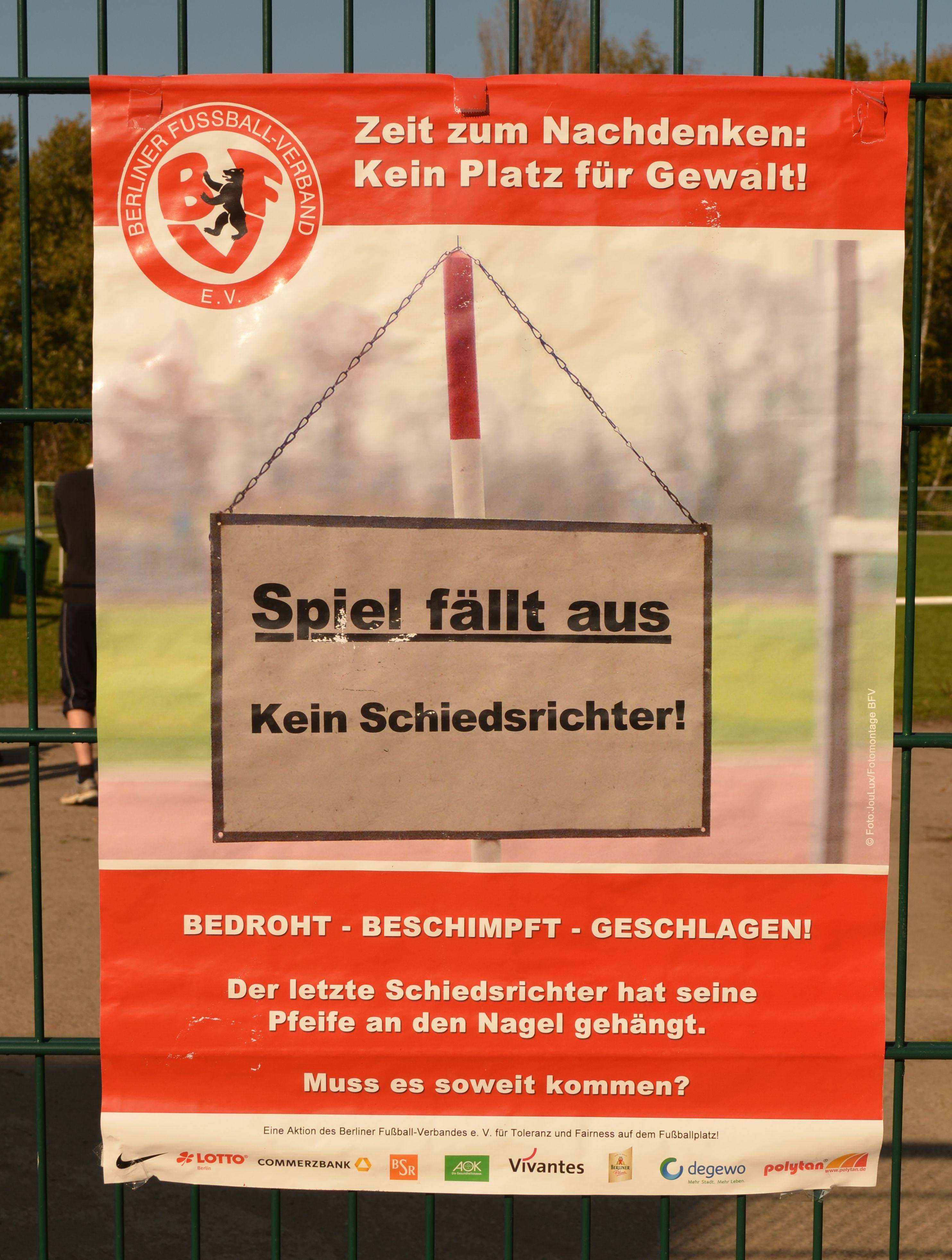 Das Plakat des Berliner Fußballverbandes