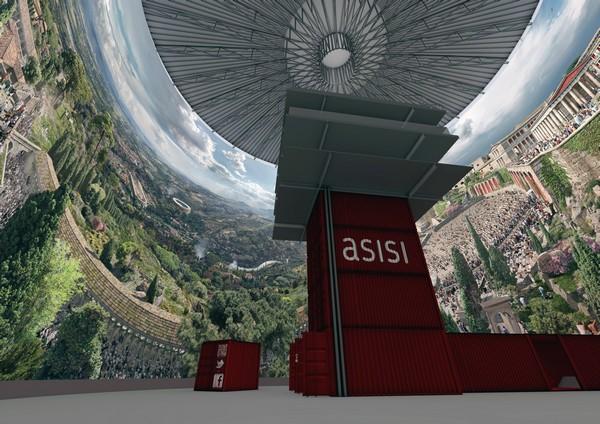 Innenansicht des Pergamon-Panoramas in Berlin. Foto: Asisi
