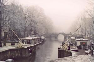 Amsterdam Brouwersgracht im Winter