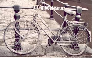 Amsterdam befrorenes Fahrrad