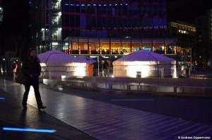 Jurten auf den Potsdamer Platz