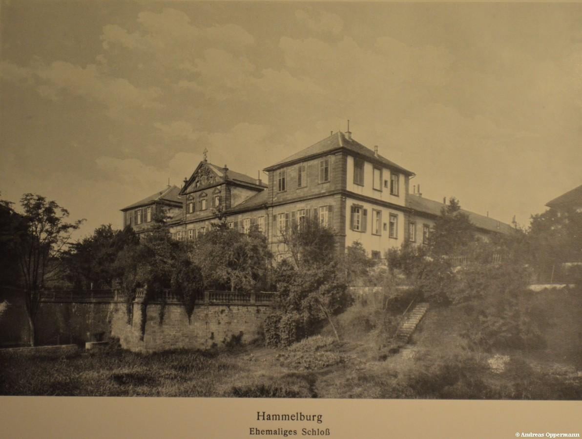 Kellereischloss oder Rotes Schloss in Hammelburg um ca. 1915