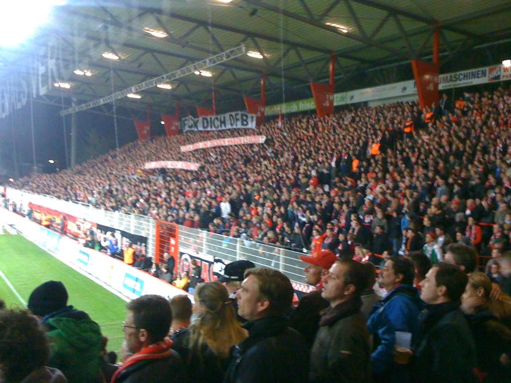 Klare Worte der Union-Fans gegen den DFB