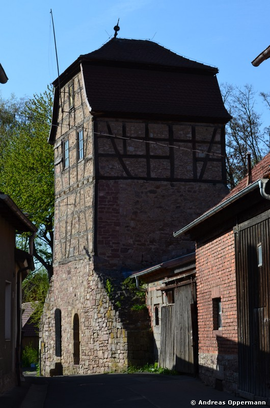Hüterturm in Hammelburg Ende April 2012