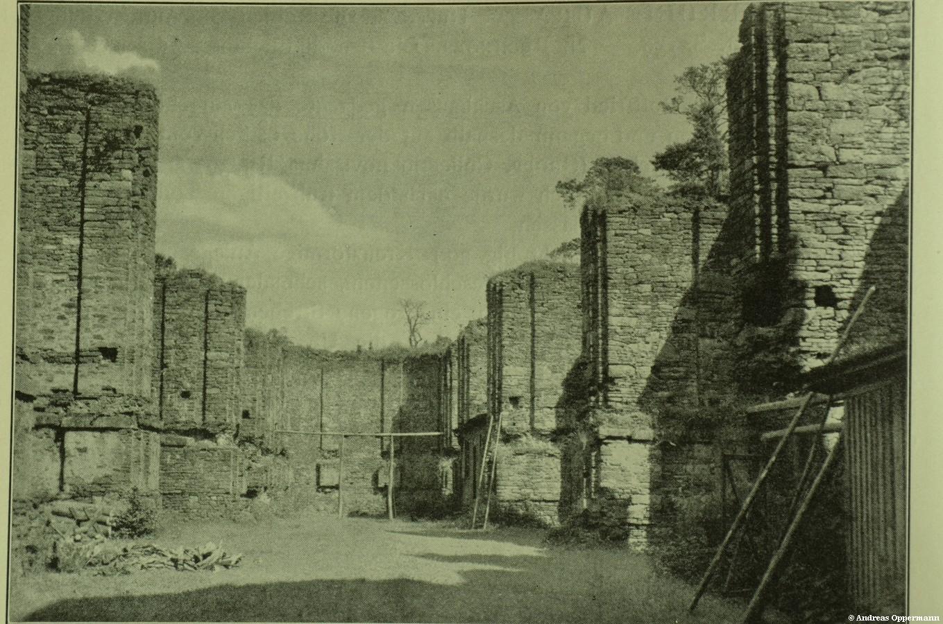Ruine Aura um 1915