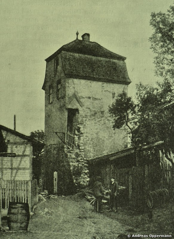 Hüterturm in Hammelburg um 1915