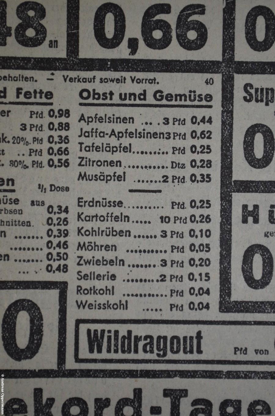 Anzeige aus dem Vorwärts vom 28. Februar 1933 (Ausschnitt)