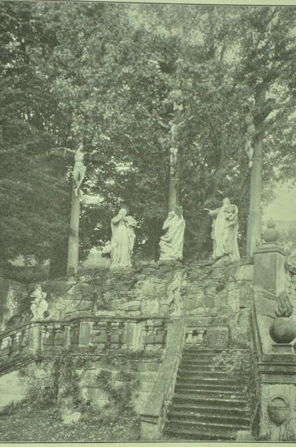 Kreuzigungsgruppe des Kreuzwegs von Kloster Altstadt um 1915