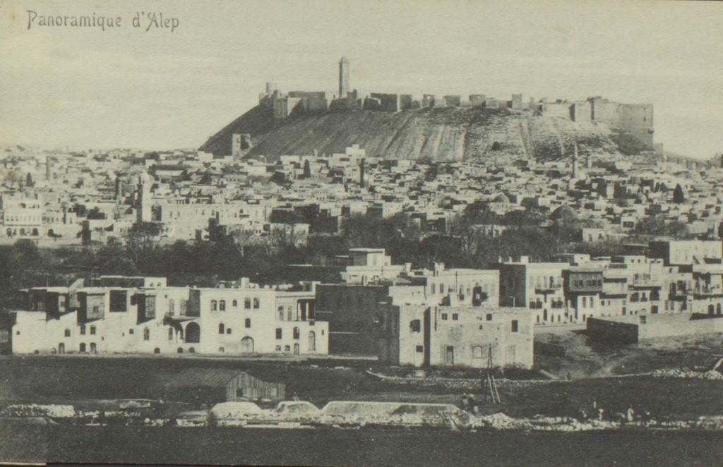 Blick auf die Zitadelle von Aleppo um 1914