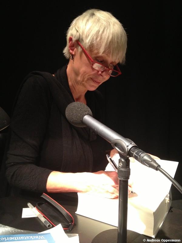 Susanne Friedrich bei der Lesung im Berliner Literaturhaus