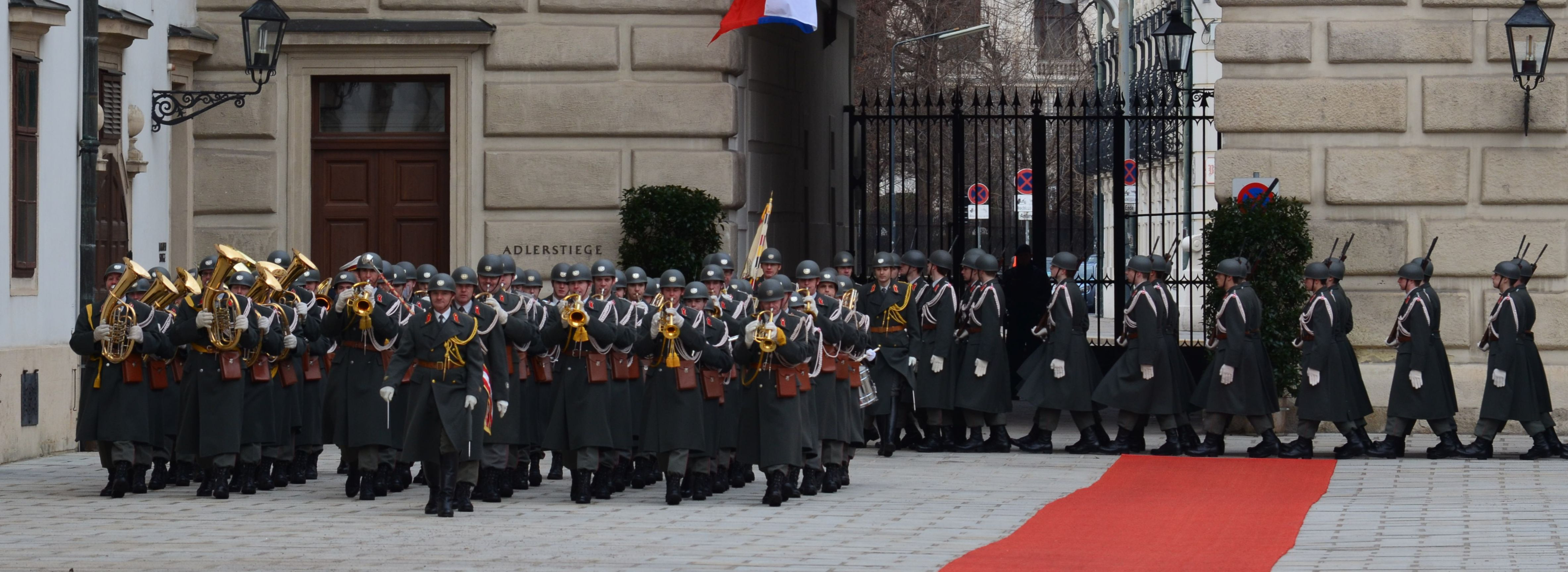 Staatsempfang des slowenischen Präsidenten in Wien am 6. Februar 2013