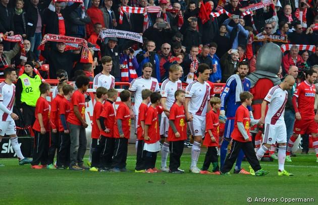 Der Club gegen Union in der Alten Försterei am 7. November 2015