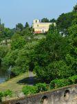 Blick aufs Pompejanum in Aschaffenburg