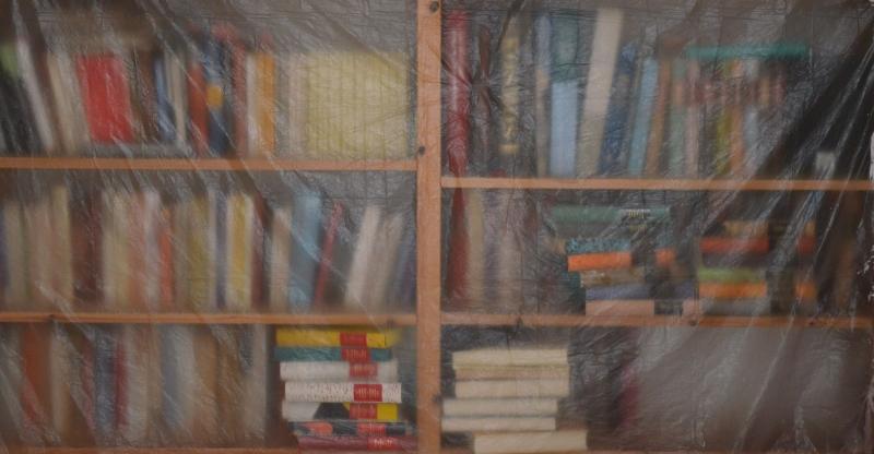 Bücher beim Renovieren