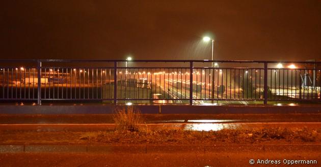 Am Stahlwerk in Eisenüttenstadt