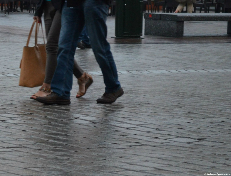 Füße in Krakau