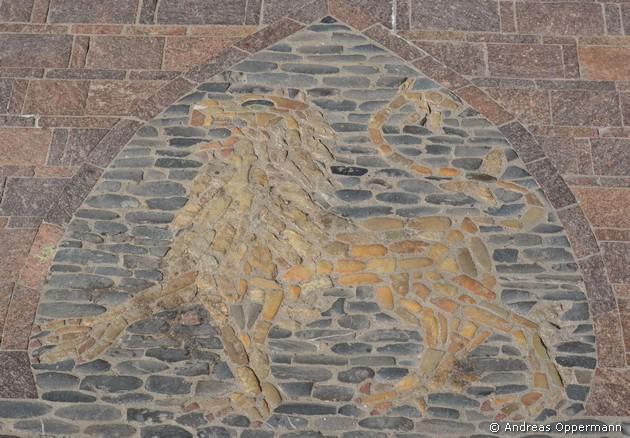 Wappenlöwe als Mosaik