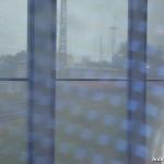 Blick aus dem Zugfenster in Frankfurt (Oder)